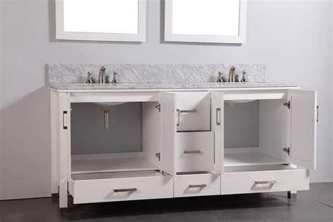 72 White Bathroom Vanity by Legion 72 Inch Contemporary Bathroom Vanity White Finish