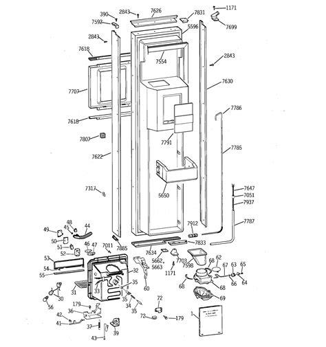 ge profile refrigerator diagram refrigerator parts ge profile side by side refrigerator