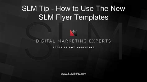 Slm Tip How To Use The Slm Flyer Templates Youtube Leroy Marketing Templates