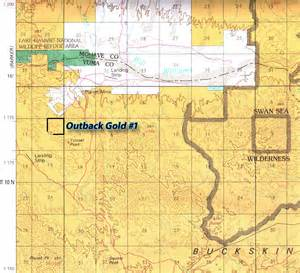gold arizona map outback gold claim