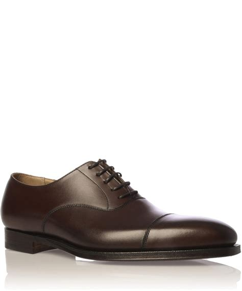 jones shoes oxford lyst crockett and jones brown hallam leather oxford
