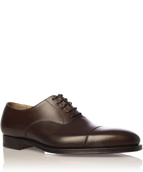 crockett and jones oxford shoes lyst crockett and jones brown hallam leather oxford