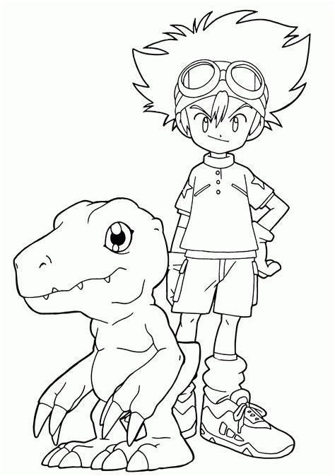 Digimon Coloring Pages Printable Coloring Home Digimon Coloring Pages