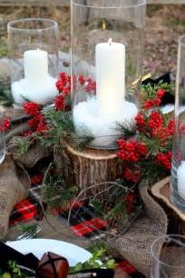 custom wood outdoor christmas table setting decorating