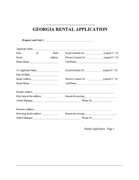 Rental Agreement Letter Ga Rental Lease Agreement Templates Legalforms Org