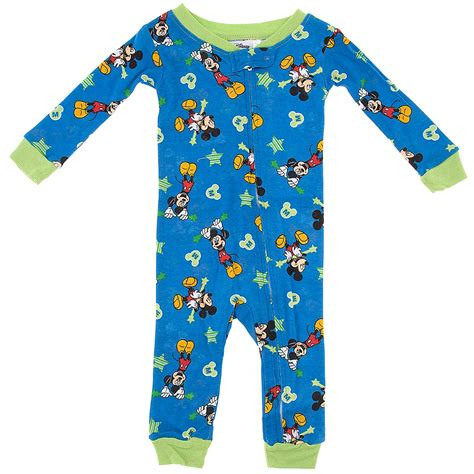 pjs boys mickey mouse cotton one pajamas for baby boys