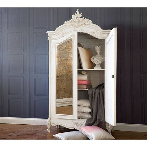 provencal  door mirrored french armoire armoire