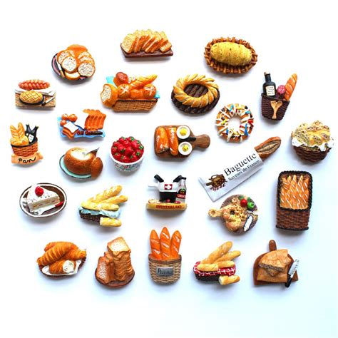 magnet cuisine 3d fridge magnet bread food series decoration simulation