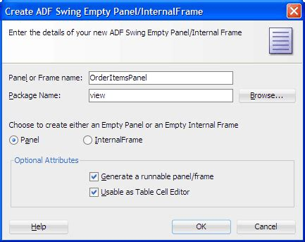 adf swing oracle jdeveloper 11g release 2チュートリアル oracle adfを使用した