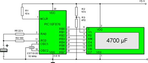 capacitor meter diagram diy capacitance meter savel brain dump in