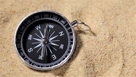 swinging the compass hand holding a compass with swinging needle looking for