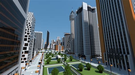 modern city cre ono city a huge modern city in minecraft maps