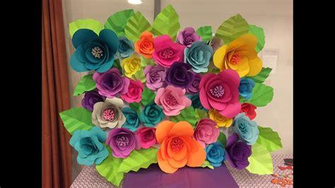hawaiian paper flower tutorial diy paper flower backdrop part 2 2 youtube