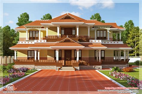 Kerala Home Design Keral Model 5 Bedroom Luxury Home Design Kerala Home