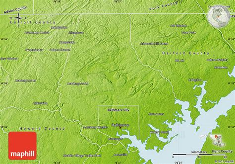 map usa states baltimore physical map of baltimore county