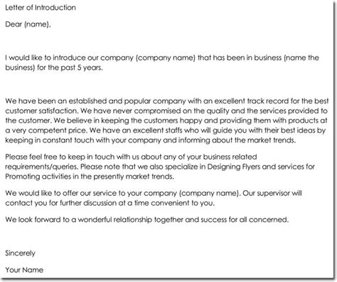 company introduction letter format letter of introduction writing tips with 24 free