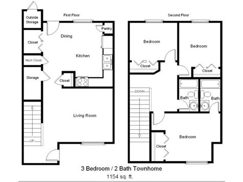 3 bedroom townhouse floor plans 3 bedroom townhome sea mist townhomes in rockport