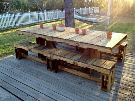 Picnic Table Dining Room Sets by Table En Palette 44 Id 233 Es 224 D 233 Couvrir Photos