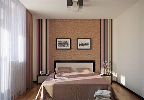 kamar tidur  desain dinding garis garis rancangan