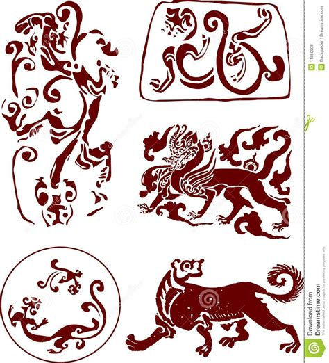 chinese traditional totem pattern royalty free stock