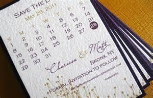 unique wedding save the dates calendar design invitations on etsy purple gold onewed