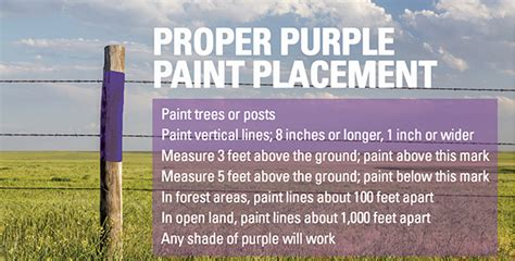 purple paint law protecting against trespass round top