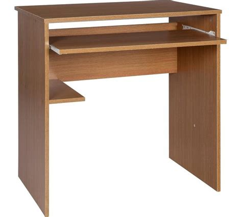 buy home office desk and chair set oak effect at argos
