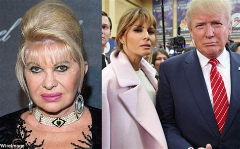 donald trump first wife donald trump s ex wife ivana lambaste current wife melanie