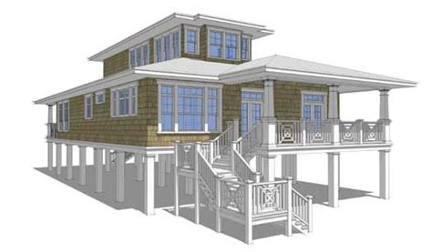 2 story beach house plans beach style house plans 2621 square foot home 2 story 3 bedroom and 3 bath 0