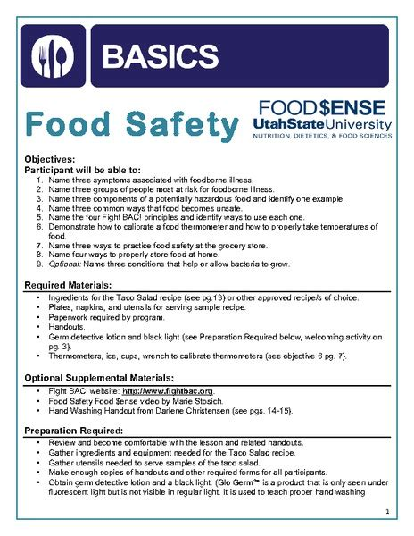 worksheet food safety worksheets mifirental free