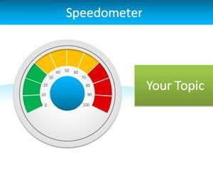 Speedometer Template by Editable Speedometer Powerpoint Template