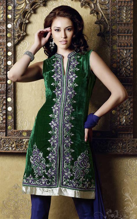 Velvet Salwar Kameez Designs Pakistani Patterns 2017
