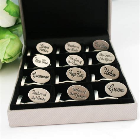 Selection Ori Non Box wedding cufflink selection box six or twelve pairs by a