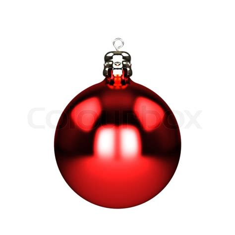red christmas decorations baubles isolated on white