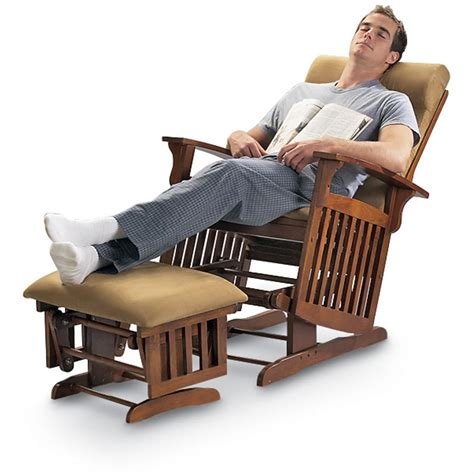 outdoor glider rocker with ottoman mission style glider rocker with ottoman oak finish