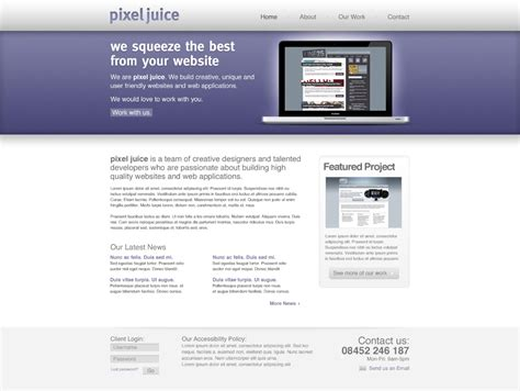 photoshop layout for website create a clean modern website design in photoshop