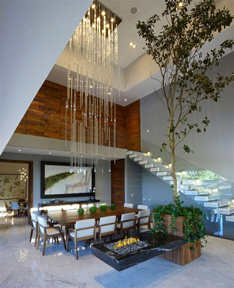 house and home design blogs modern atrium house with large double height space living