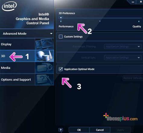 Berapa Ram Cpu setting ram vga dari intel graphic