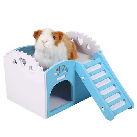 hamster bed house villa cage bed nest exercise toy for hamster guinea