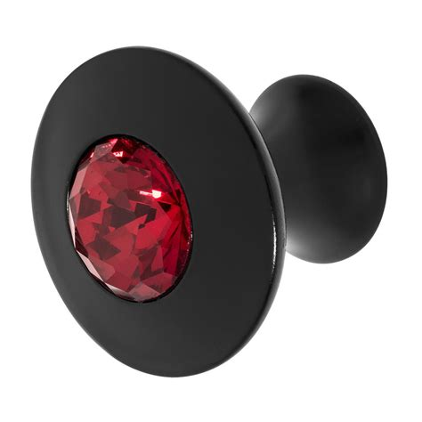 red crystal drawer pulls wisdom stone felicia 1 1 4 in black with red crystal
