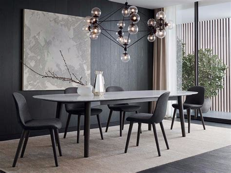 Rectangular Marble Table Mad Dining Table Mad Collection Poliform Dining Table