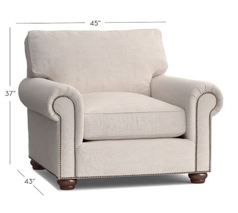 Upholstered Armchairs by Webster Upholstered Armchair Pottery Barn