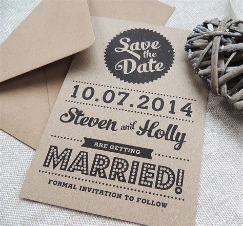 how to make a save the date card retro vintage style kraft save the date card by project