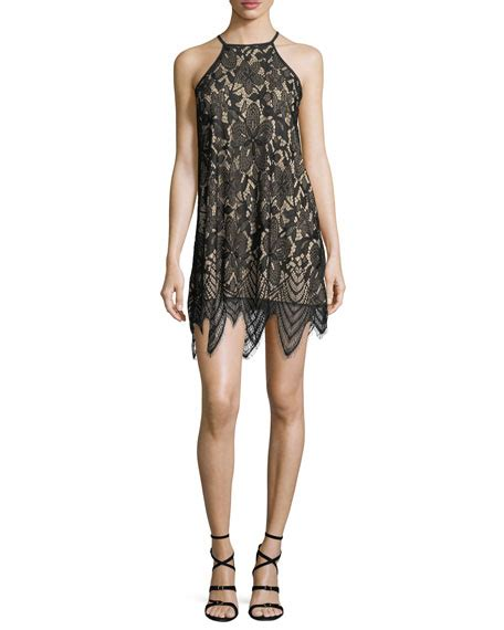 Halter Lace Sheath Dress halter neck lace sheath dress neiman