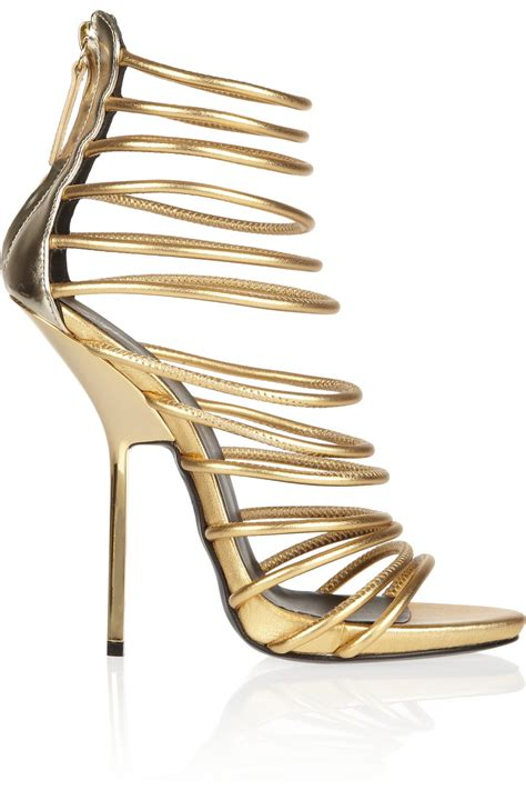 gold gladiator high heels fashion trend of designer gold high heel gladiator sandals