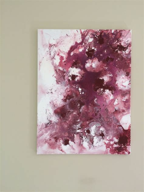 Tas Matras Canvas Abstrak Maroon abstract flow burgundy painting large fluid by resemblesme
