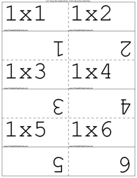 free printable multiplication flash cards for kids math