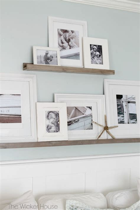 picture ledge gallery wall picture ledges the wicker house