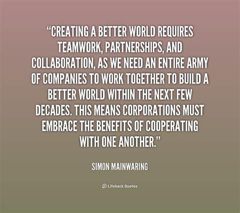 collaboration teamwork quotes quotesgram