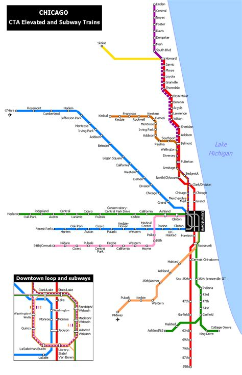 chicago metro map does your city subway or lighrail suburbs compared